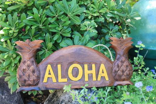 "Pineapple Welcome Sign w/ Aloha 12"" Tropical Decor | #bds1201240a"
