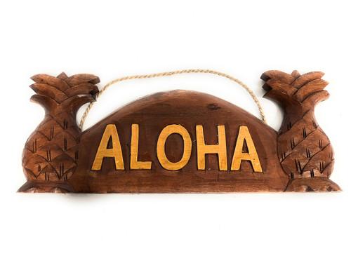 "Aloha Sign w/ Pineapple 14"" - Tropical Decor | #bds1201240a"