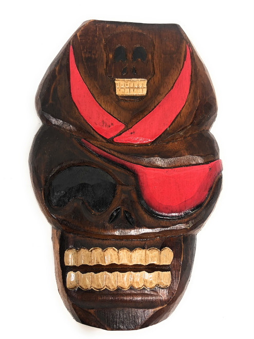 "Captain Skully Wall Plaque 12"" - Pirate Decor 