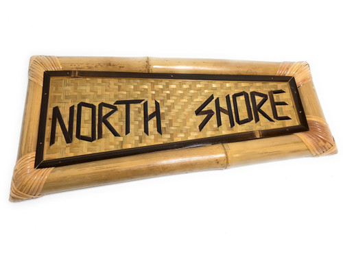 "Northshore Bamboo Sign 20"" X 10"" - Tropical Decor 