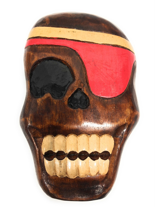 """Holly Skully Pirate Head Wall Plaque 8"""" - Pirate Decor   #dpt526220"""