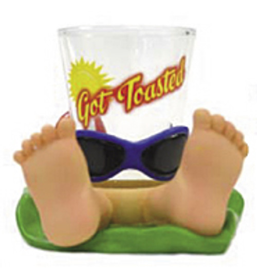 GOT TOASTED - NOVELTY SHOT GLASS - TIKI