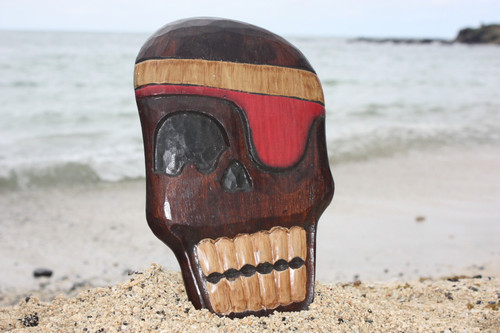 """HOLY SKULLY"" PIRATE HEAD WALL PLAQUE 12"" - PIRATE DECOR"