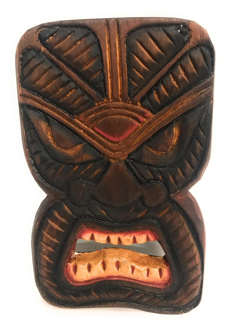 "Money Tiki Mask Shield 8"" Plaque - Pop Art Culture 