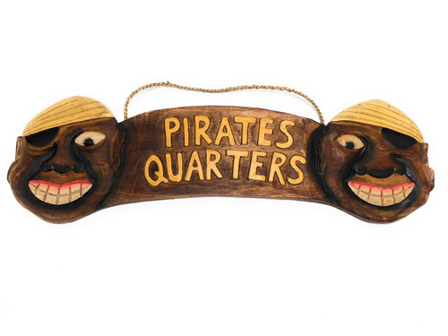 """Pirate's Quarters Sign 24"""" - Pirate Decor - Hand Carved   #dpt526360"""