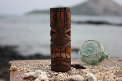 """Lucky Tiki Totem 5"""" - Antique Finish - Hawaii Gifts"""