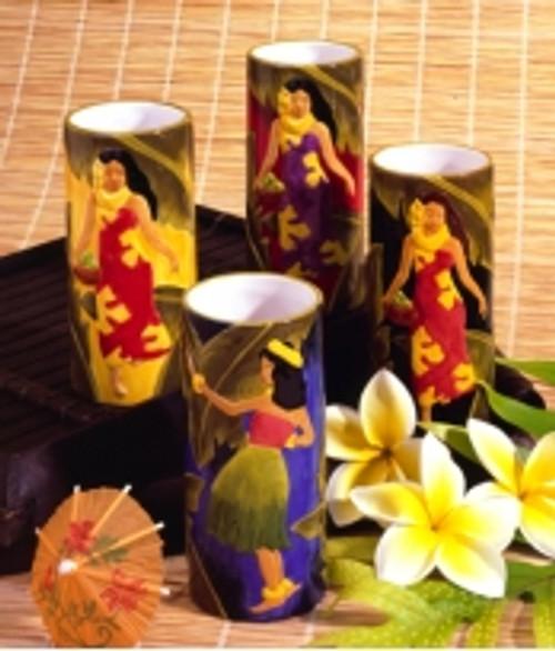 Vintage Island Beauties Ceramic Vase/Mug - Black