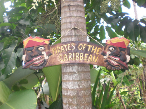 """PIRATES OF THE CARIBBEAN"" PIRATE SIGN 24"" - PIRATE DECOR"