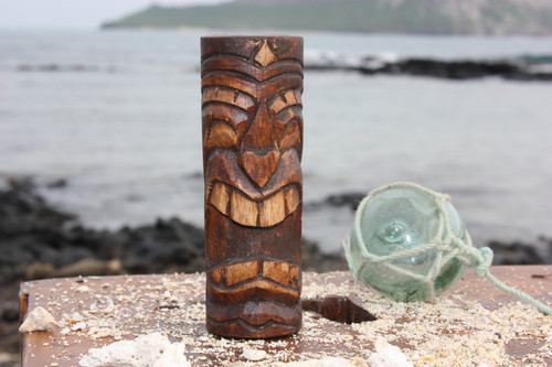 "Vegas Baby Tiki Totem 5"" - Antique Finish - Hawaii Gifts"
