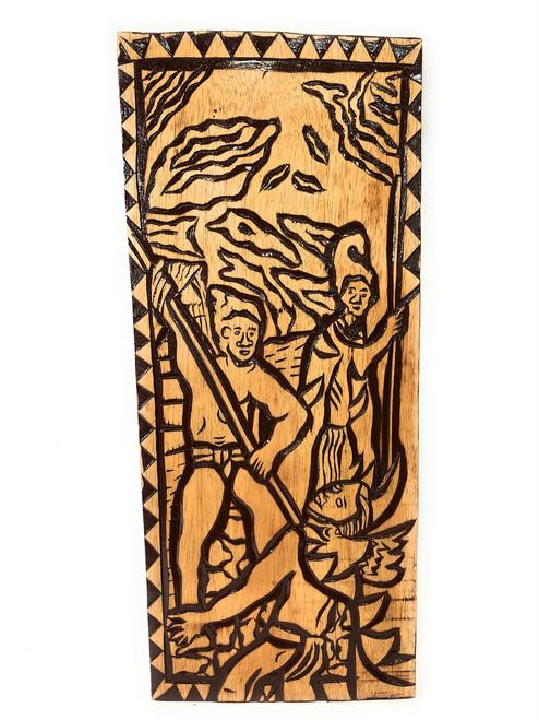 "King Of The Sandwich Islands Wood Panel 30"" X 12"" King Kamehameha - Polynesian Wall Art   #dpt5041"