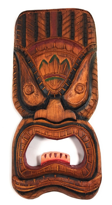 "Ocean Tiki Mask 12"" - Wall Plaque - Tropical Decor 
