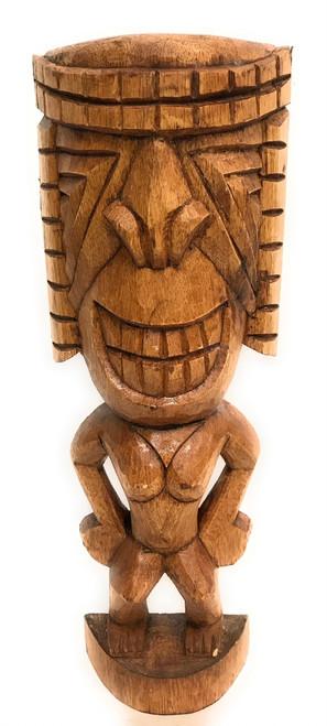 "Ku Tiki 16"" - Warrior Tiki - Hand Carved | #dpt534140"