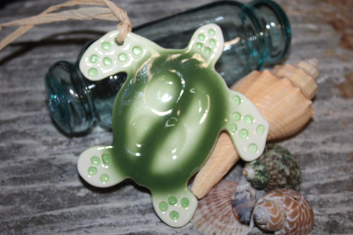 "Honu/Turtle Christmas Ornament Ceramic 5"" Hawaii 