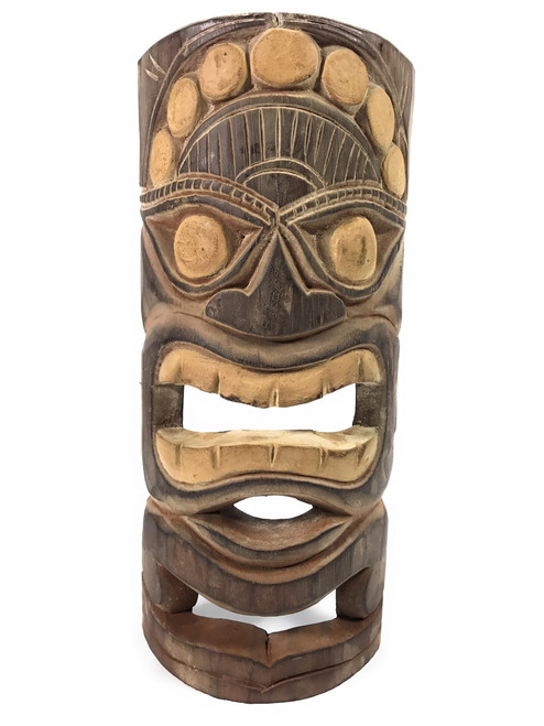 "Earth Tiki Mask 12"" - Good Crop Tiki Idol   #dpt513330"