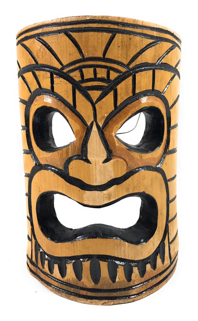 Warrior Chief Bamboo Tiki Mask 8"