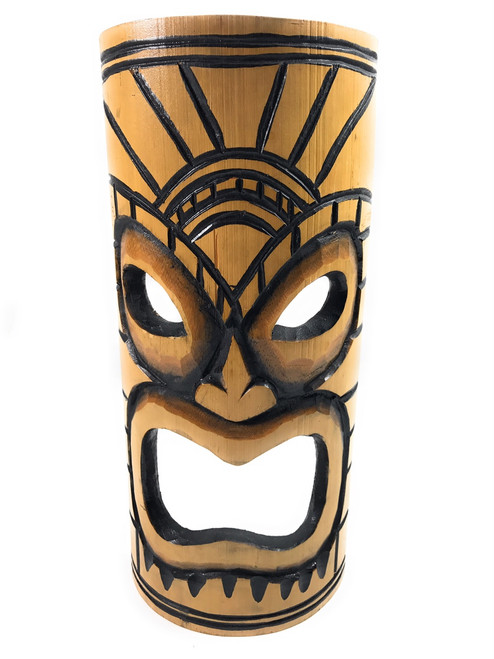 Warrior Chief Bamboo Tiki Mask 12"
