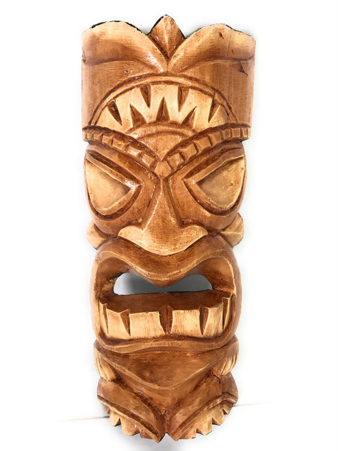 "Love Tiki Mask 12"" - Wall Decor - Hand Carved 