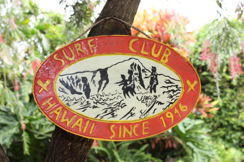 """Surf Club, Hawaii Since 1946"" - Replica Vintage Sign 