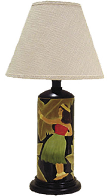 VINTAGE ISLAND BEAUTIES CERAMIC TABLE LAMP - BLACK