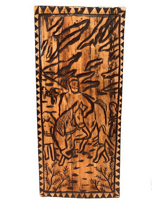 "Kamehameha's Rule Wood Panel 30"" X 12"" King Kamehameha - Polynesian Wall Art | #dpt5048"