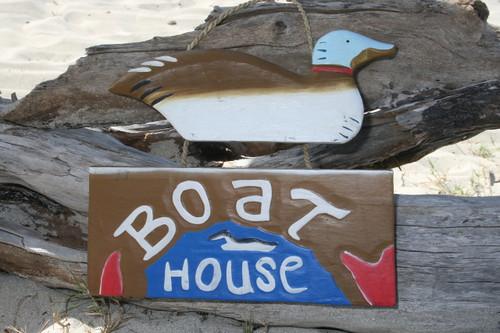 """""""BOAT HOUSE"""" LAKE HOUSE SIGN 15"""" - NAUTICAL DECOR"""