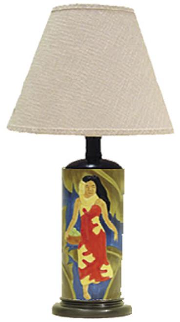 VINTAGE ISLAND BEAUTIES CERAMIC TABLE LAMP - BLUE