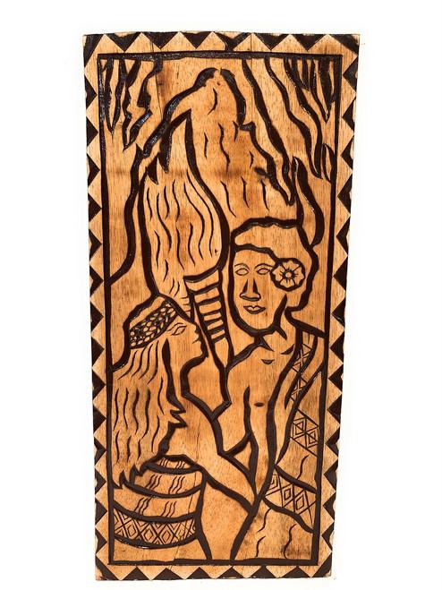 "The King's Love Wood Panel 30"" X 12"" King Kamehameha - Polynesian Wall Art | #dpt5051"