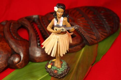 Leilani Dashboard Doll - Hula Girl with Ukulele   #KC40625