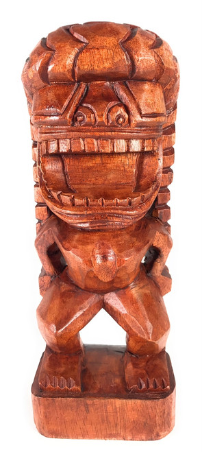 "God Of King Kamehameha Tiki 12"" - Authentic Hawaiian Tiki | #bla600230"