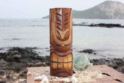 "Happy Tiki Totem 8"" - Antique Finish - Hawaii Gifts"