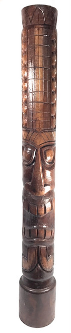 "Money Tiki Totem 60"" Antique Finish - Hand Carved | #dpt5377150"