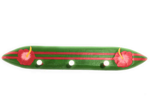 "Surfboard Hanger w/ Hibiscus Flower 24"" - Hawaii Decor 