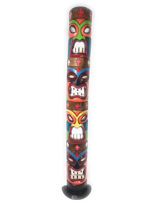 "Love, Prosperity, Health, Luck Colorful Quadruple Tiki Mask on stand 60""   #bag15044150"