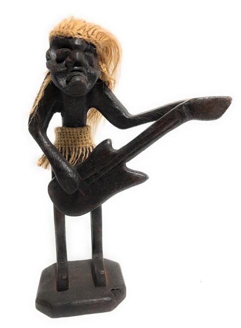 "Guitar Player Crazy Primitive Tiki Dude 8"" - Tribal Art | #t6192"