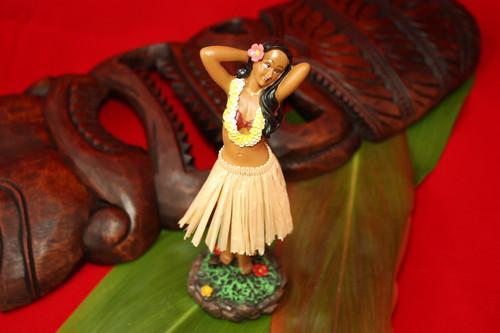 Leilani Dashboard Doll - Natural Hula Girl Posing   #KC40628