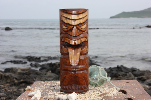 "Strength Tiki Totem 8"" - Antique Finish - Hawaii Gifts"