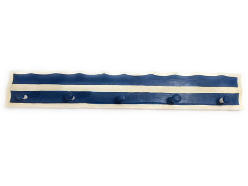 "Ocean Wave Hanger 24"" w/ 5 Pegs - Nautical Decor Accents 