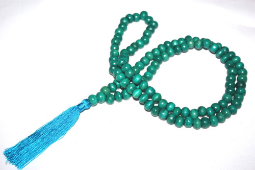Tassel Necklace Buddha Green Wooden Beads Jewelry | #cik3601g