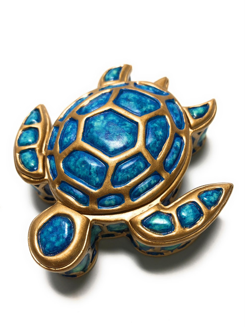 "Turtle Honu Jewelry Keepsake Box 3"" - Hawaii Gift 
