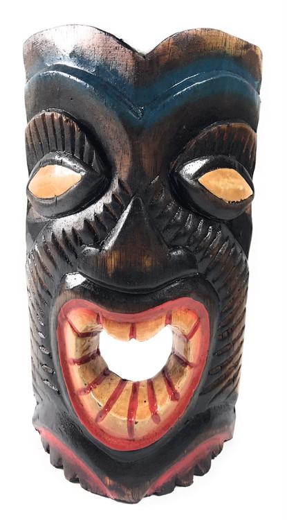 Laughing Tiki Mask 8 Quot Happy Tiki Idol Dpt513220b Tikimaster Com
