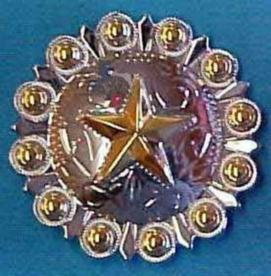 Gold Star-Berry Concho