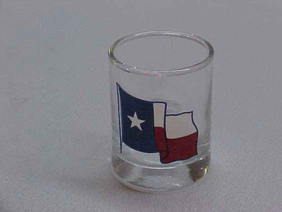Waving Texas Flag Shot Glass TX1003