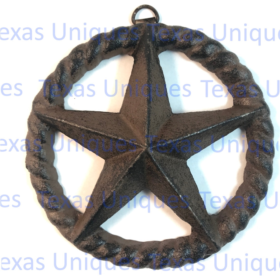 5 Inch Cast Iron Star In Rope Circle