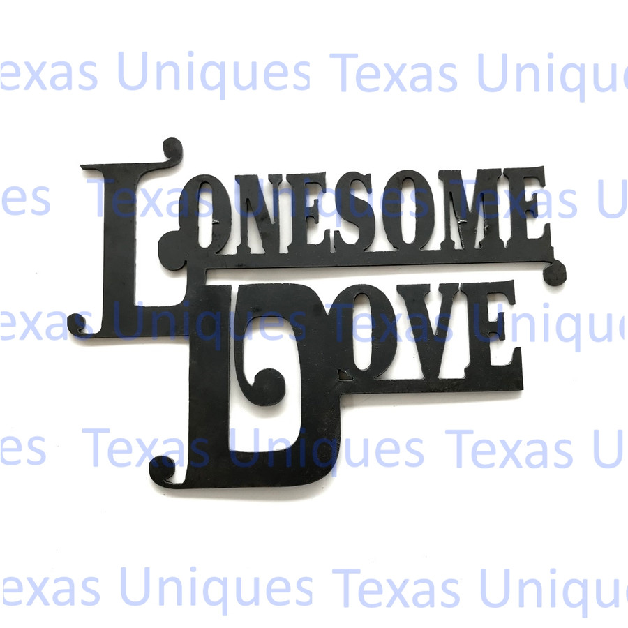 Lonesome Dove Metal Cut Out Metal Art