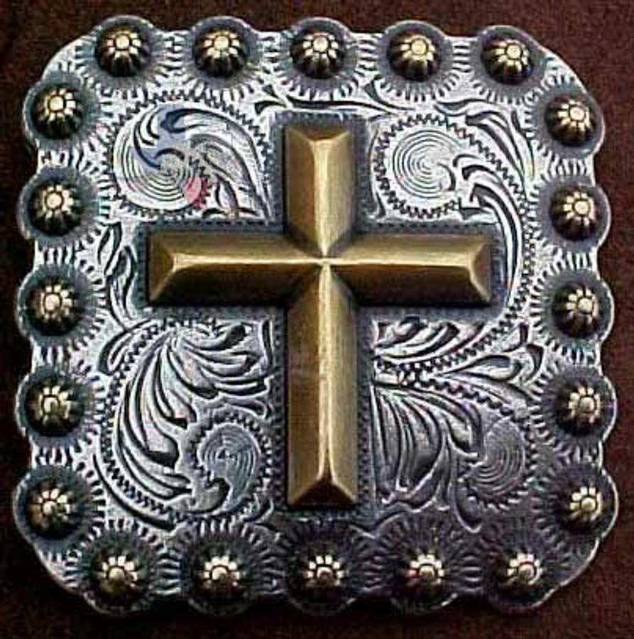 Square Cross Concho