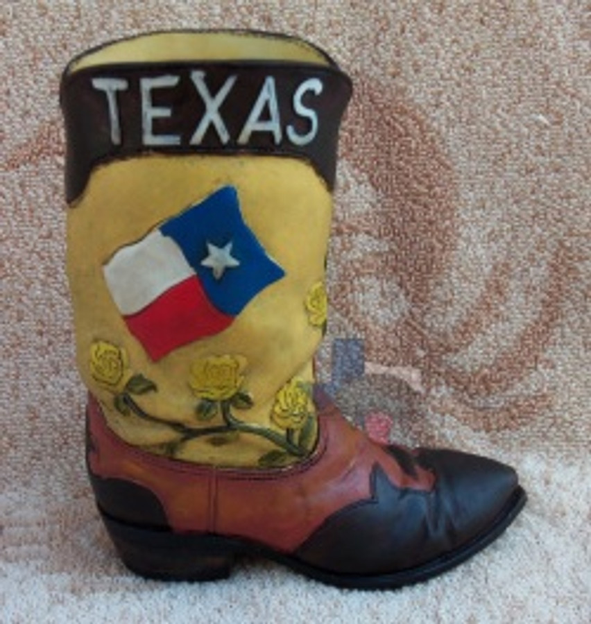Western Texas Resin Cowboy Boot