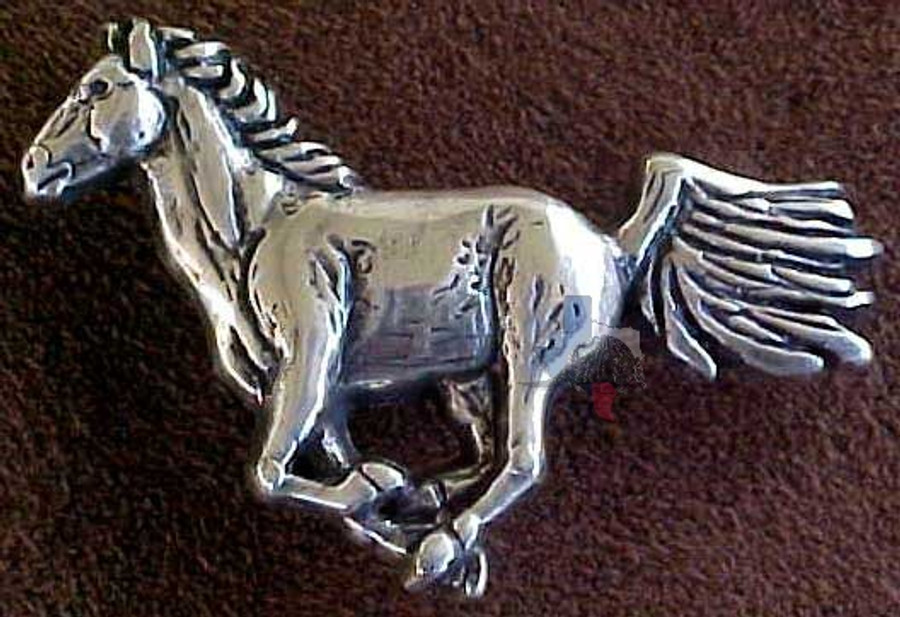 Western Horse Conchos Silver Plated