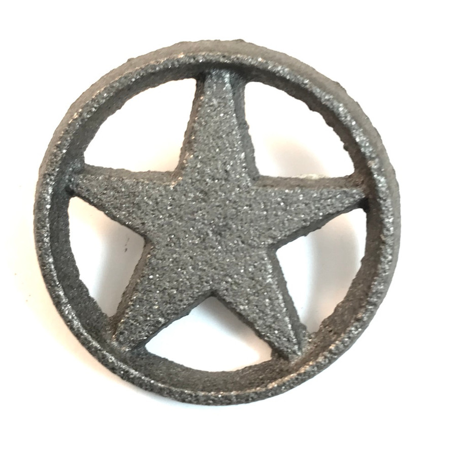 Cast Iron Star In Circle With Nail
