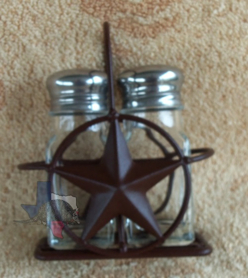 Star Salt & Pepper Holder & Shakers