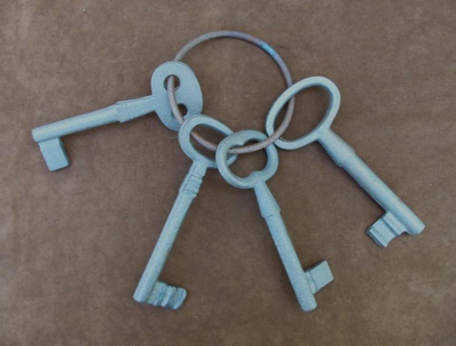 Old West Prison Jail Keys Set